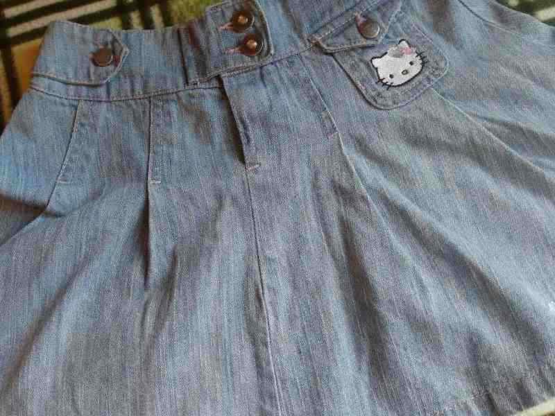 cca1992699b Купить в Находке  Джинсовая юбка Hello Kitty для девочки 8-10 лет
