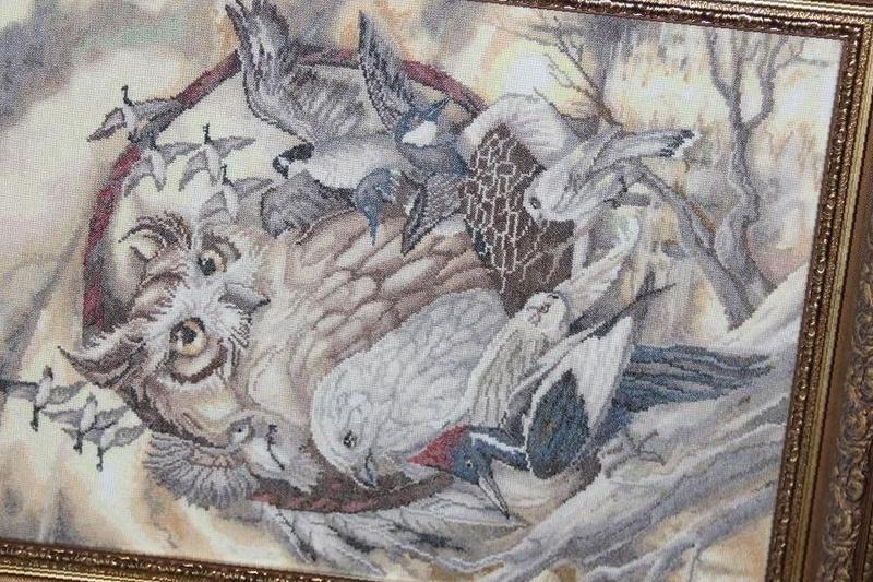 Вышивка птичий совет 41