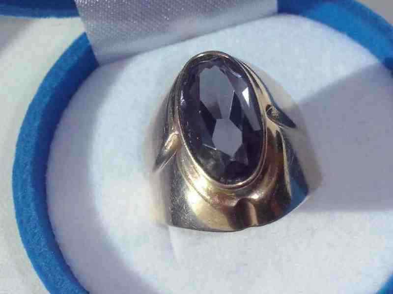 Купить в Новокузнецке  Золотое кольцо с александритом СССР, 583 ... 212ace30e6b