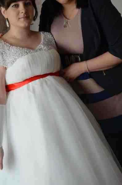Купить в Чите  Свадебное платье для беременных, б у , цена 5500 ... f170e583597