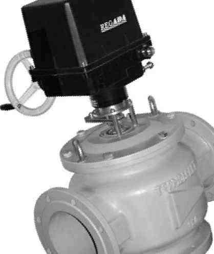 Заслонка ЗР6-6Е с электроприводом